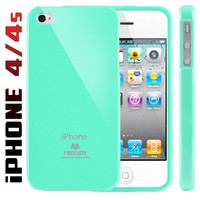 Mercury Slim Fit Flexible TPU Case for Apple iPhone 4 (Turquoise / Mint)