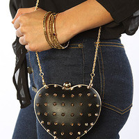 The ME Heart Clutch in Black