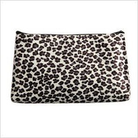 NEW WOMEN'S COSMETIC COIN CELLPHONE MAKEUP POUCH BAG PURSE - LEOPARD PRINT