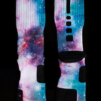 Thesockgame.com  Cotton Candy Galaxy Elites - Custom NIke Elite Socks