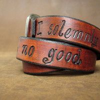 "Wide Adjustable Leather Wrap Bracelet - ""I solemnly swear that I am up to no good."" Harry Potter"