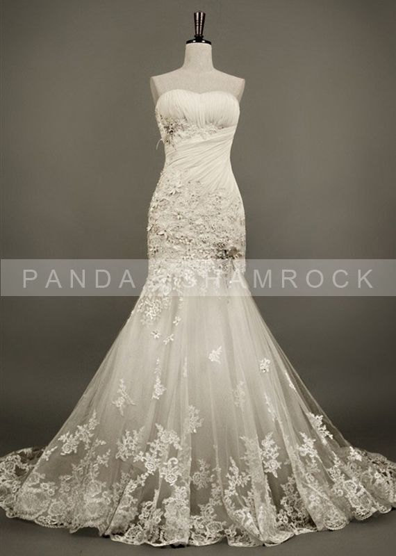 tulip wedding gown bridal dress from pandaandshamrock on etsy