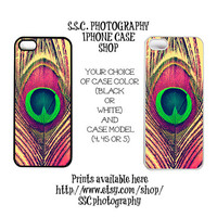 Iphone 4 Case. Iphone 5 case. 4s. Peacock. Feather. Pink. Teal. Blue. Green. Gold. Pretty. Girly. Abstract. Warm. photo. glam. elegant