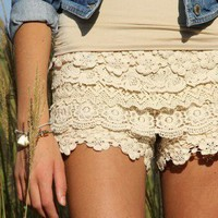 Lace shorts