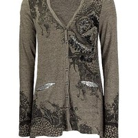 Miss Me Graphic Sweater Cardigan - Women's Sweaters | Buckle