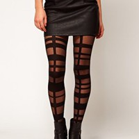 ASOS Grid Strapping Tights at asos.com