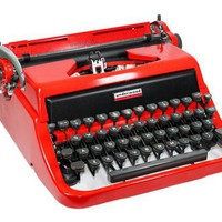 Red Underwood Golden Touch Manual Typewriter in by BrooklynRetro