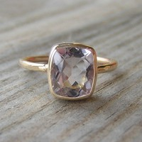 Ballerina Ring 14k Gold and Morganite Made To by onegarnetgirl