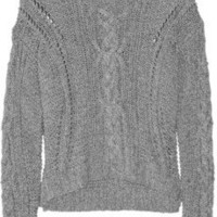 Vince Cable-knit cotton-blend sweater - 65% Off Now at THE OUTNET