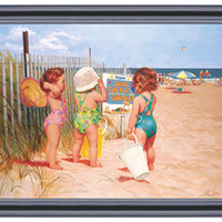 Seaside Adventures - Heritage Framed Art by Art 4 Kids, Framed Art, Art for Girls