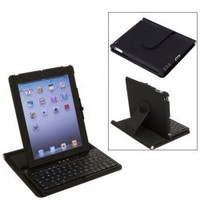 Bluetooth V2.0 Wireless Keyboard with 360 Degrees Rotatable Case Holder for iPad 2 (Black) China Wholesale - Everbuying.com