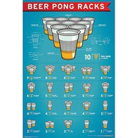 (24x36) Beer Pong Racks Art Poster