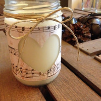 Cinnamon spice soy candle in a jar
