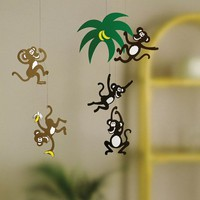 Monkey Tree Mobile by Flensted Mobiles, Mobiles, Decor for Children