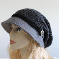 Slouchy Woman Knitted Hat Cap on Luulla