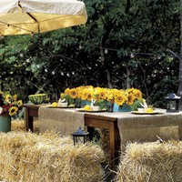 sunflower outdoor table setting