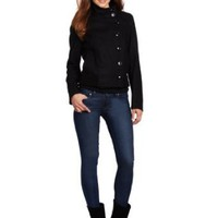 Amazon.com: Kenneth Cole Women's Melton Bomber: Clothing