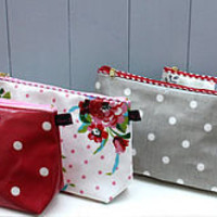 oilcloth vintage inspired large make-up bag by love lammie | notonthehighstreet.com