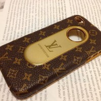 NEW LV Brown Monogram iphone 4 and 4s hard case (Non-Retail Packaging)