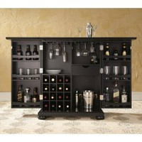 Amazon.com: Alexandria Expandable Home Bar Liquor Cabinet: Home & Garden