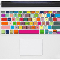 Rainbow  Macbook Pro Keyboard Decal  Sticker Macbook by GoodDecal