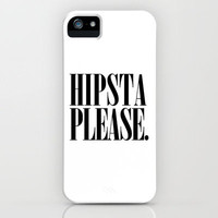 Hipsta Please Vintage early 90's font typography iPhone Case by Rex Lambo | Society6