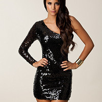 One Sleeve Sequin Dress, Oneness