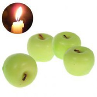 4PCS Exquisite Apple Shaped Scented Craft Candles -Green