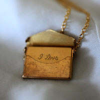 Envelope Locket by janiecox on Etsy