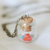 Small Treasures Necklace by janiecox on Etsy
