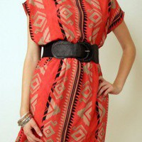 Sunrise Aztec Dress at Nectar Clothing