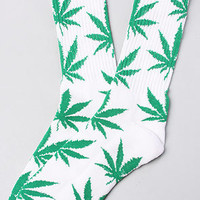 HUF The Plantlife Socks in White Green : Karmaloop.com - Global Concrete Culture