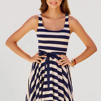 Nautical Belted Dress
