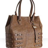 Jimmy Choo cognac leather and snakeskin 'Babeth' tote | BLUEFLY up to 70% off designer brands