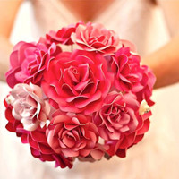 Custom Paper Flower Wedding Bouquet