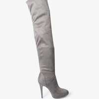 Faux Suede Over-The-Knee Boots | FOREVER21 - 2021840603