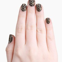 Glam Up Gold Diamonds Instant Nail Wraps @ FrockCandy.com