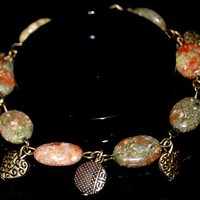 NATURAL SEMI-PRECIOUS GEMSTONE AUTUMN JASPER BRACELET