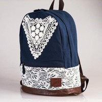 Blue Backpack With Lace on Luulla