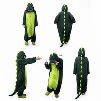 COS365 Dinosaur Kigurumi Pajamas Adult Anime Cosplay Halloween Costume ,size XL (70
