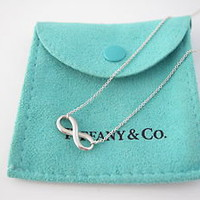 Tiffany &amp; Co RARE Silver Infinity Necklace!