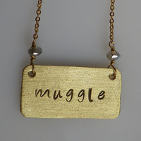 Harry Potter JewelryMuggle Hand stamped personalized by Arang