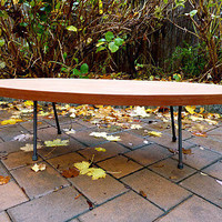 mid century MODERN solid walnut COFFEE TABLE / raw by CIRCA60