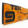 Outnumbered IV Modern Wall Clock (Rusted) w/ Back