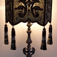 Victorian Gothic Peacock Shield Table Lamp by peacockgypsy on Etsy
