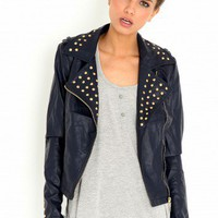 Missguided - Avery Stud Biker Jacket
