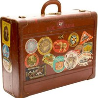One Kings Lane - Overbey & Dunn - Large Leather Traveler's Suitcase