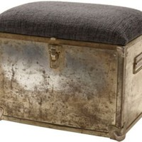 One Kings Lane - Overbey & Dunn - Brass Footstool
