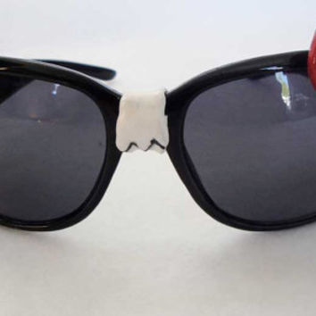 Hello Kitty NERD sunglasses black red bow by CandyKidsCreations