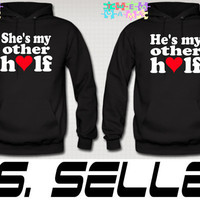 She Is My Better Half Hoodie Couple Love Hoodie Love by TeesGame